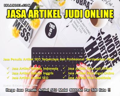 Jasa Penulis Artikel Judi Slot Online - Iklan303.com