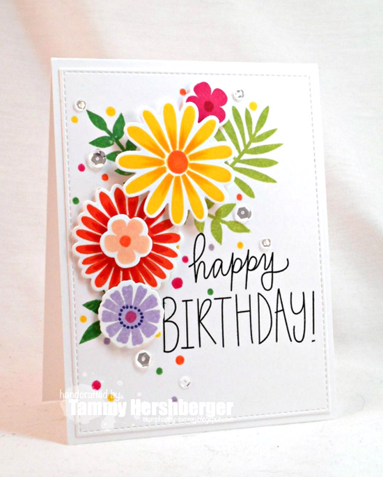 Birthday Wishes & Balloons stamp set, Large Desert Bouquet stamp set and Die-namics - Tammy Hershberger #mftstamps