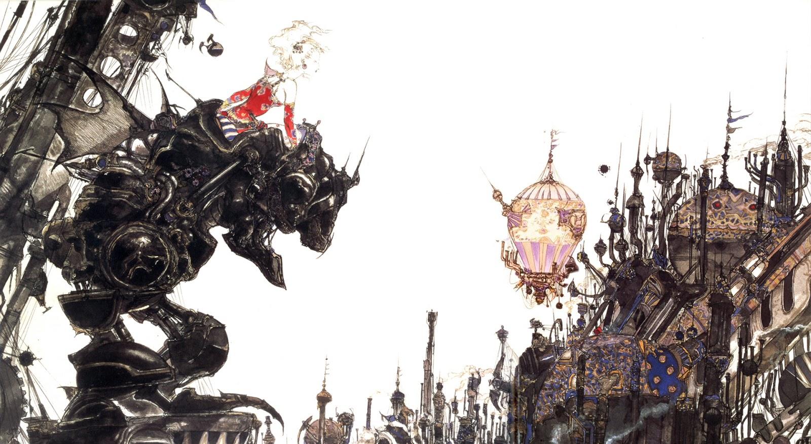 FF6 illustration by Yoshitaka Amano