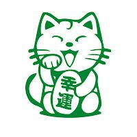 Maneki-neko-colores-verde