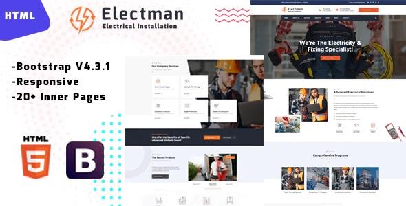 Electricity Repair Website Template