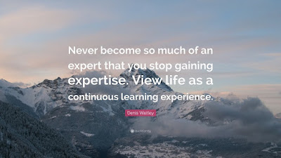 Never become so much of an expert that you stop gaining expertise