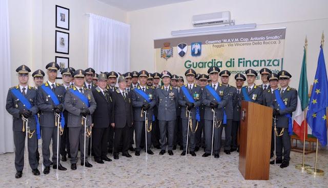 Foggia, cambio al vertice prov.le, il Col. Andrea Di Cagno al posto del Col. Ernesto Bruno