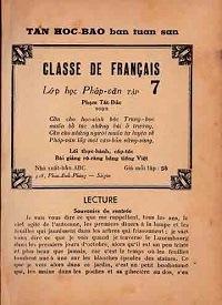 Lớp Học Pháp Văn Tập 7 - Phạm Tất Đắc