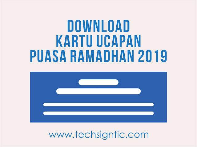 Kartu Ucapan Puasa Ramadhan 2019