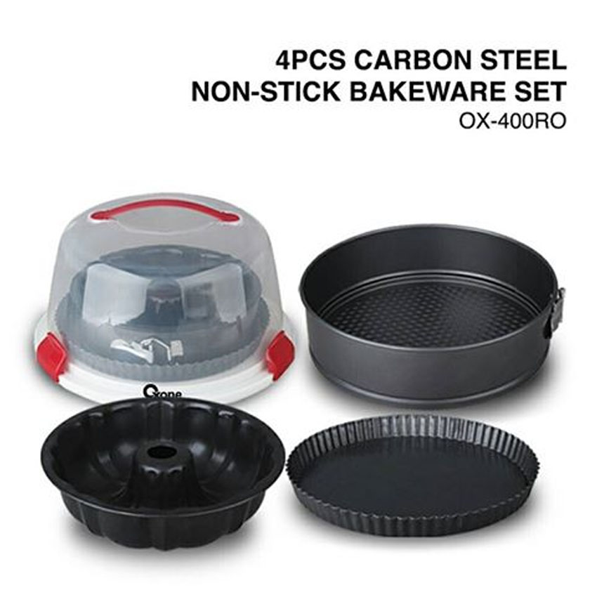 OX-400RO 4Pcs Oxone Carbon Steel Non-stick Bakeware Set
