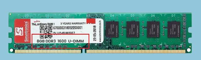3. Cara Cek Ram PC pada Kemasan atau Stiker RAM