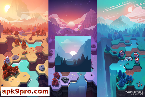 Valleys Between v1.3.4 b10184 Apk + Mod (File size 66 MB) for android