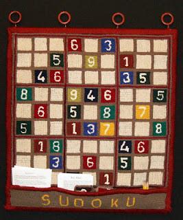 Sudoku Rug by Brenda Ticehurst
