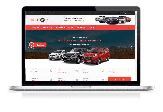 Giao diện blog bán hàng dịch vụ thuê xe ô tô
