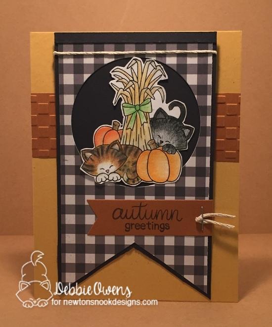 Autumn greetings by Debbie features Autumn Newton by Newton's Nook Designs; #newtonsnook
