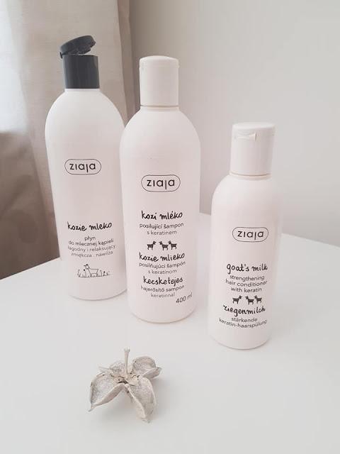 leite de banho, shampoo e condicionador