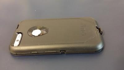 Otter Box Defender Pixel XL Case - Black - Back Rightside View