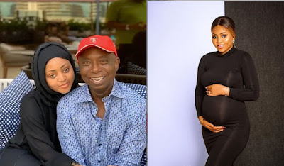 image result for Regina daniels husband Ned Nwoko and new baby
