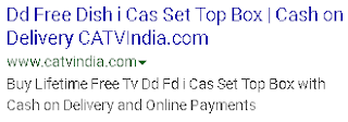 dd freedish i-cas set-top box with cash on delivery
