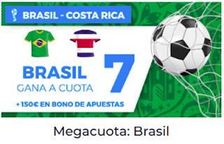 Paston Megacuota Mundial 2018 Brasil gana Costa Rica 22 junio