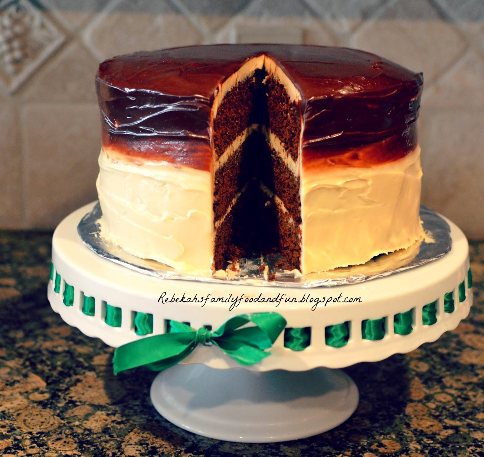 Featured Recipe: Chocolate Pumpkin Delight Cake from Family, Food, & Fun #secretrecipeclub