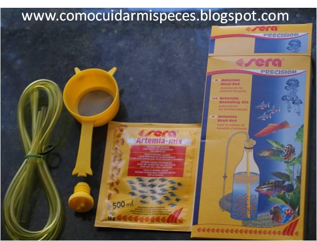 Como eclosionar artemia con el kit de sera for Artemia para peces