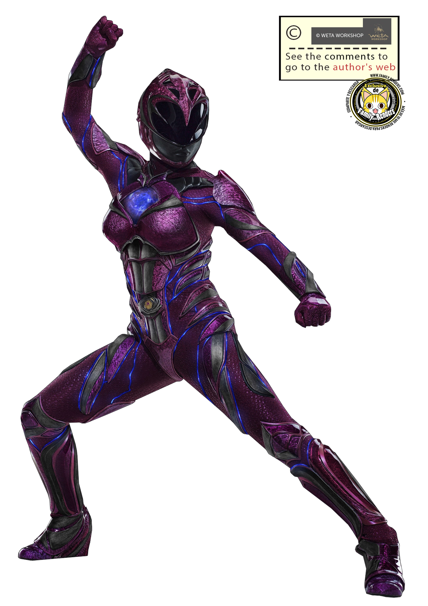 render Pink Ranger