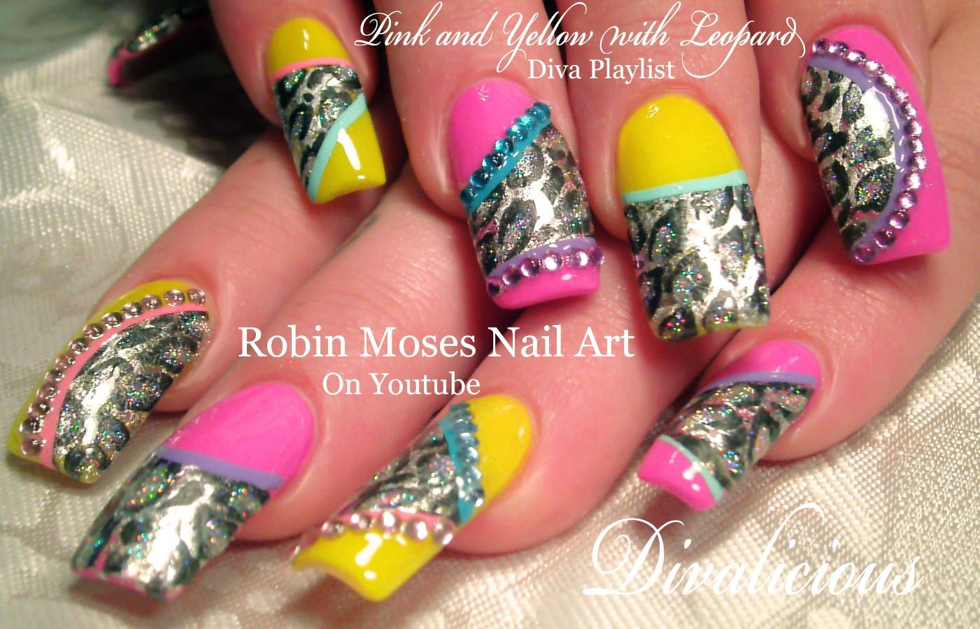 Nail Art By Robin Moses Zebra Print Nails Animal Print Nail Art