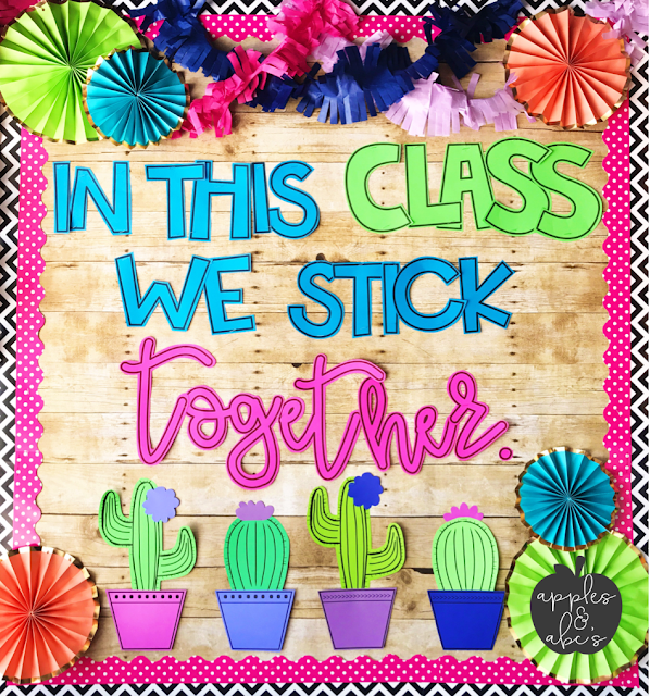 Spring Classroom Decoration Ideas ~ Cactus classroom decor apples and abc s