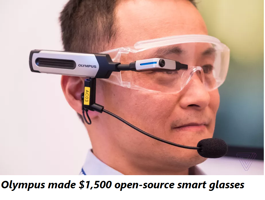 Olympus influenced $1,500 to open source shrewd glasses