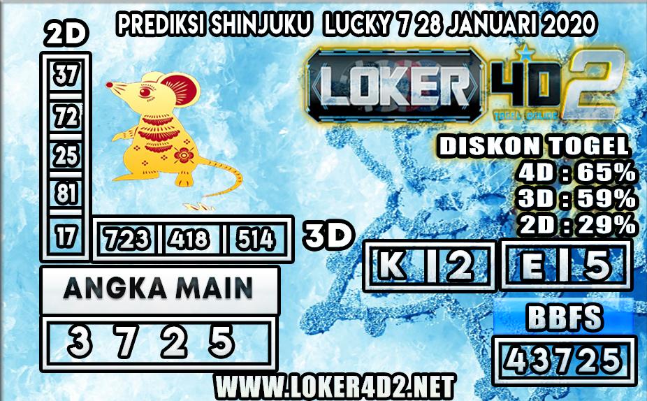 PREDIKSI TOGEL SHINJUKU LUCKY 7  LOKER4D2 28 JANUARI 2020