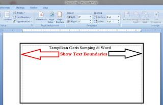 Cara memunculkan Garis batas Pada Layar Office Word 2007