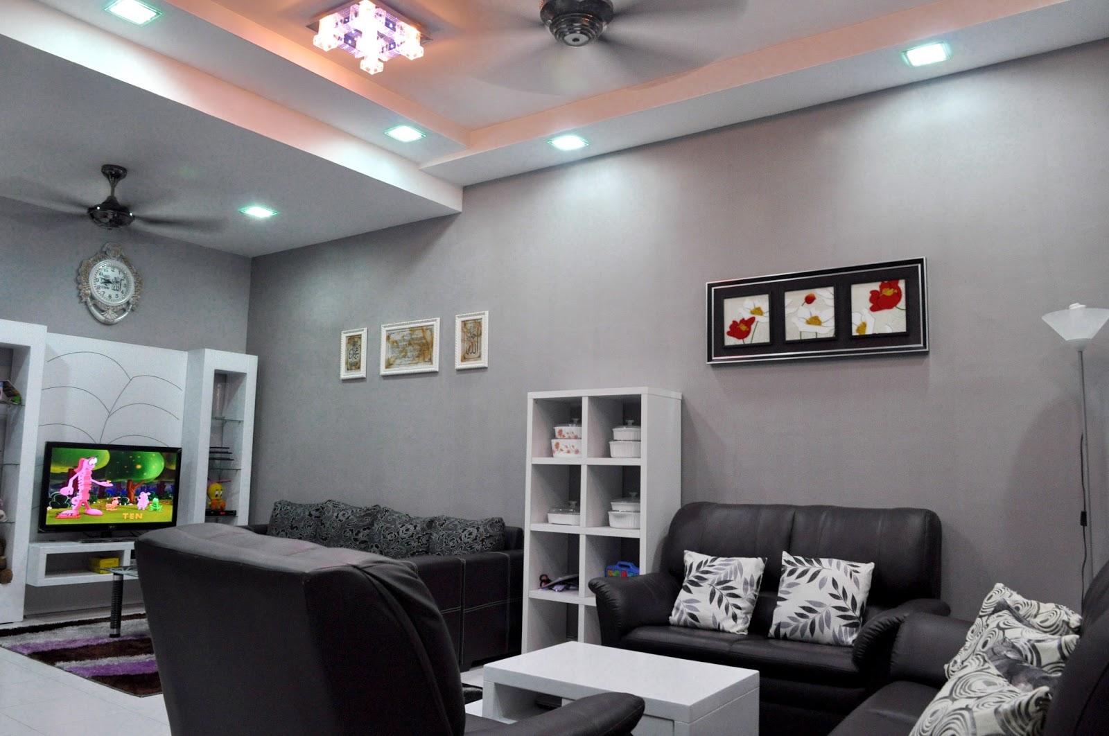 Ruang Tamu Warna Kelabu Desainrumahid