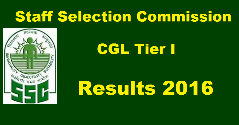 SSC CGL Tier 1 Result 2016 www.ssc.nic.in
