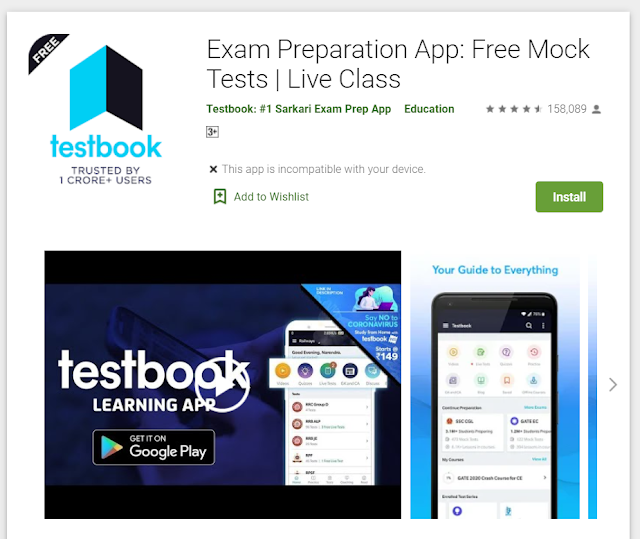 Testbook Learning App | Best App for Exam Preparation App, Free Mock Tests,Live Class