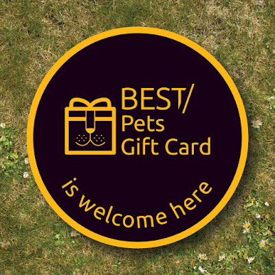 Best Pets Gift Card sticker for pet-friendly businesses welcoming gift card
