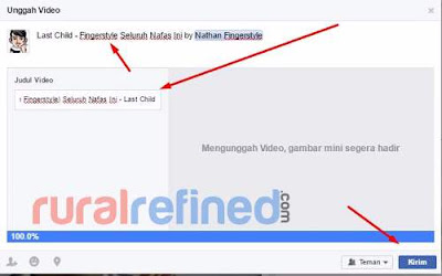 cara upload video di facebook praktis