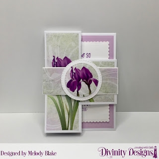 Divinity Designs Stamp Set: John 3:16, Custom Dies: Belly Band, Double Stitched Circles, Half-Shutter Card with Layers, Paper Collection: Spring Flowers 2019