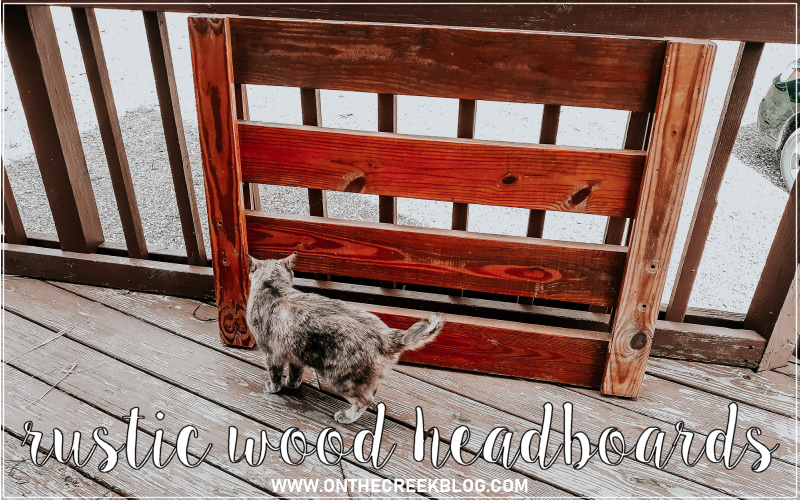 Rustic wood headboards from the Habitat For Humanity ReStore!