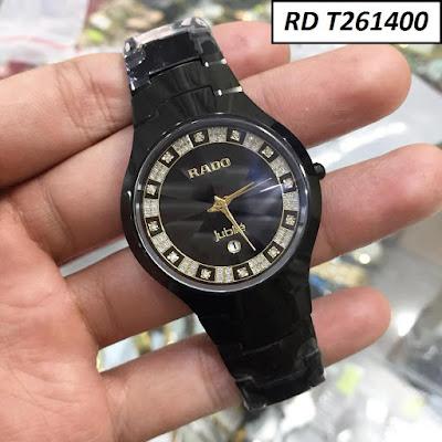 Đồng hồ đeo tay nam mặt tròn dây đá ceramic RD T261400