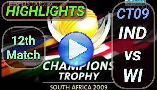 IND vs WI 12th Match