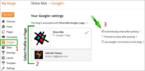 Auto Share Blog Post On G+