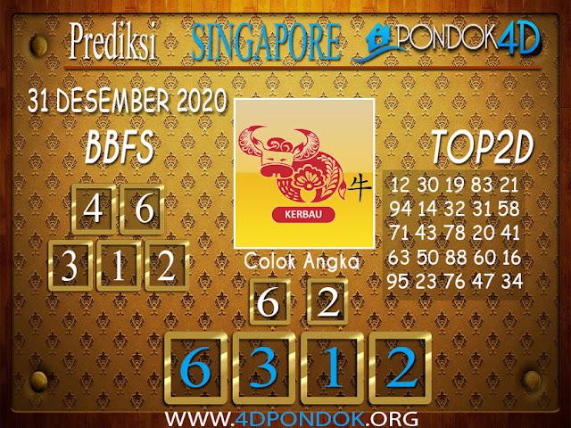 Prediksi Togel SINGAPORE PONDOK4D 31 DESEMBER 2020