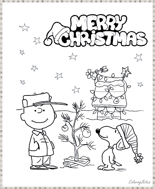 Charlie Brown Christmas Coloring Pages Funny for Kids ...