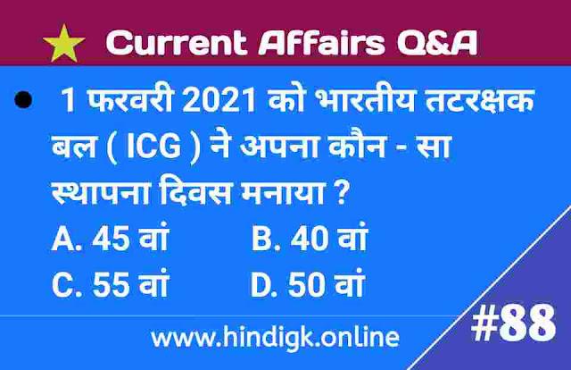 2 February 2021 Current Affairs In Hindi