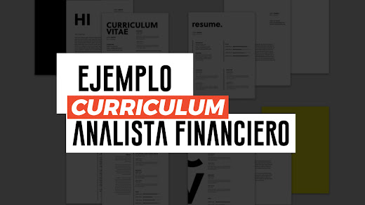 Muestra de CV de analista financiero