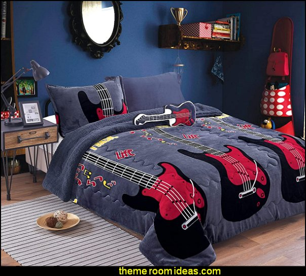 guitar bedding music bedroom decor guitar bedroom decorating guitars music bedroom decorating