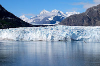 Tidewater glaciers, like those seen by millions of tourists in Alaska's Glacier Bay, terminate at the ocean, where warming water and air temperatures can expedite melting, leading to more sea level rise. (Credit: Eric E. Castro/CC-BY0-3.0) Click to Enlarge.