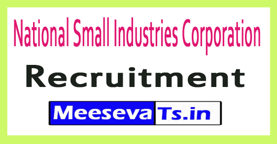 National Small Industries Corporation NSIC Recruitment