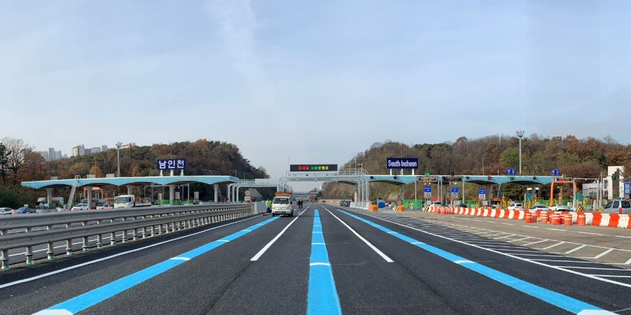 제2경인고속도로 남인천요금소 3차로 하이패스 공사 완료