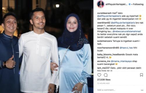 Rangkul Tangan Aliff Syukri, Rebecca Nur Al Islam Dikecam Didakwa Tak Hormat Suami