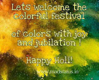 Colorful Holi Greetings, Quotes, Slogans, Facebook, Whatsapp