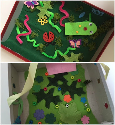 Making a mini beast garden craft for children