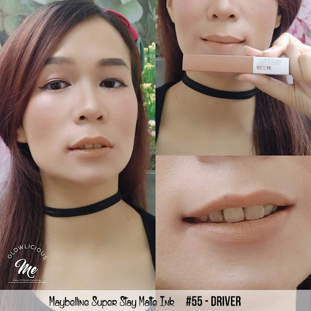 Maybelline Super Stay Matte Ink #55 Driver - REVIEW LIPSTICK MAYBELLINE SUPER TAHAN LAMA 2